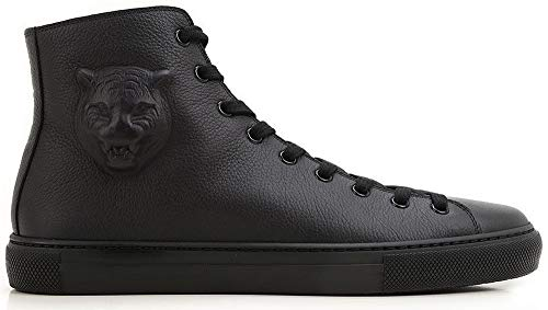 ger Pebbled Leather High Top Sneaker, Black (12.5 US / 12 UK) ()