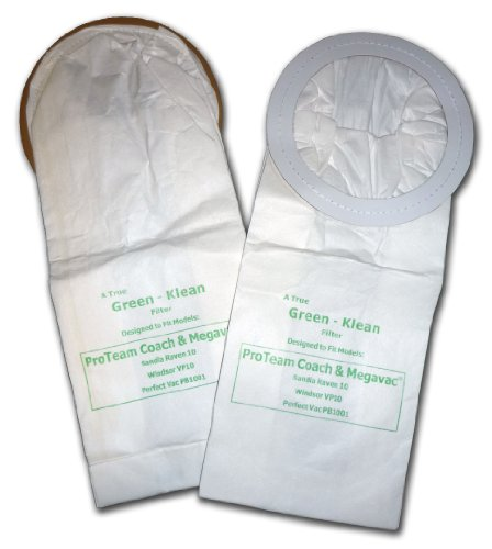 Green Klean GK-S-Coach Replacement Vacuum Bags (Pack of 100) (100331 Vacuum Bag)