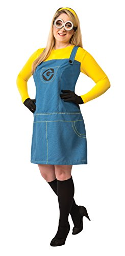 Minion Costume Women (Rubie's Costume Women's Despicable Me 2 Female Minion Costume, Multicolor, Plus)