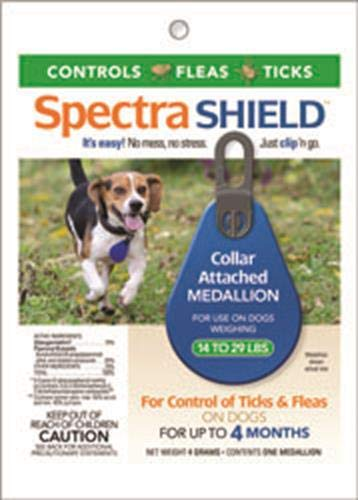 (Durvet Spectra Shield Collar Attached Medallion for Small Dogs, 14 to 29-Pound)