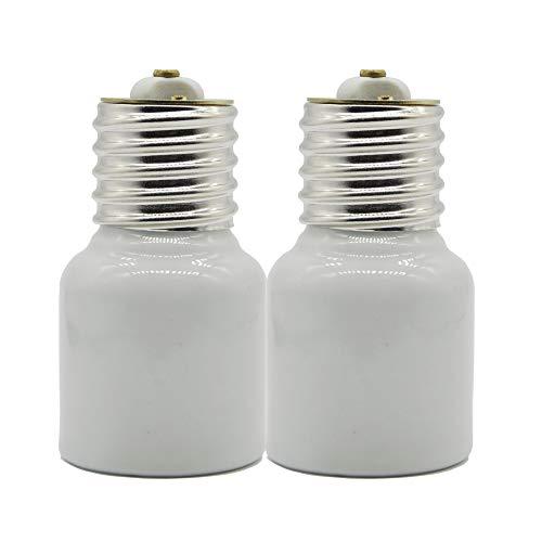 Porcelain Mogul Socket Extender,Mogul Base E39 Socket Extensions Adapter,Emnooti E39 to E39 Screw Mogul Base LED Fluorescent Incandescent Lamp Holder Adapter 1500W 660V (2-Pack)