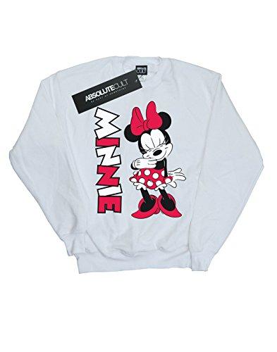 Sweat Mouse Minnie Giggling shirt Blanc Disney Femme xv4Iw4F