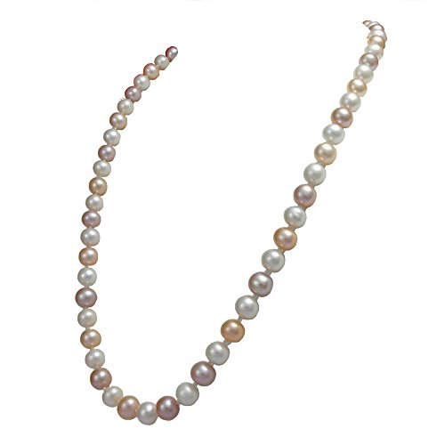 Orien Jewelry Multicolor Freshwater Cultured Pearl Necklaces 8mm AA Cultured Pearl Pendant Necklace for Women