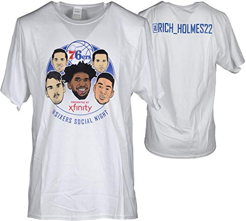 "Richaun Holmes Philadelphia 76ers Player-Issued White""Social Media Night"" @Rich_Holmes22 Shirt from the 2017-18 NBA Season - Size XL - Fanatics Authentic Certified"