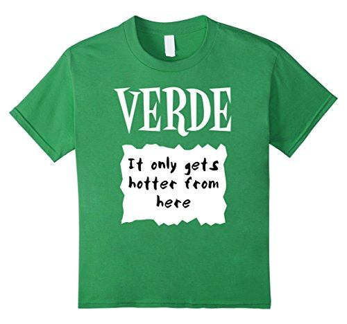 Halloween Costumes For Groups Of 6 (Kids GROUP HALLOWEEN COSTUME T-shirt VERDE HOT SAUCE PACKET Shirt 6 Grass)