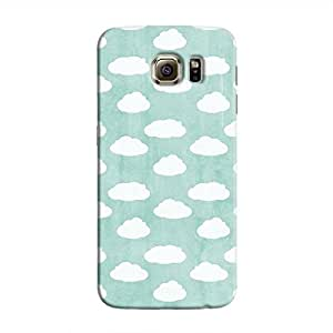 Cover It Up - Clouds Cyan Sky Galaxy S6 Edge Hard case