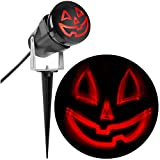 Halloween Holiday Outdoor Lightshow Projection ShadowWaves Happy Jack O Lantern (Red) Decor Decoration by Gemmy Industries