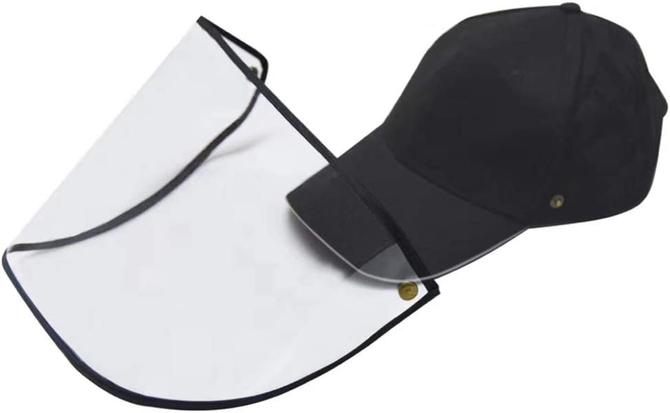 Blusea Anti-Tr/öpfchen Hut Abnehmbares Design Sonnenhut Gesichtsmaske Outdoor Protector Stop Speichel Sunbonnet