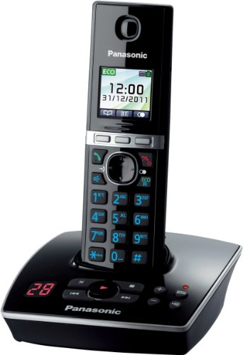 Panasonic KX-TG8061GB Telefon schnurlos mit Anrufbeantworter (1 Mobilteil) schwarz