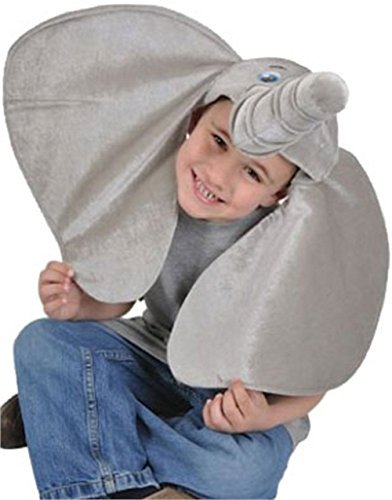 Rhode Island Novelty Stuffed Plush Elephant Hat Costume Party Cap (2-Pack) -