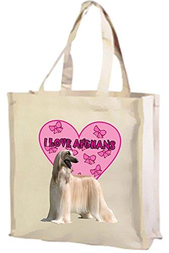 Hounds Love Afghan Love Hounds I Afghan Shopping I Cream Bag Cotton PI1f15xq