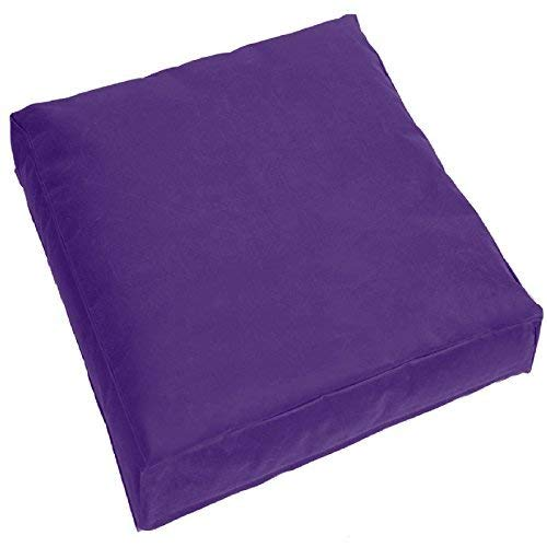 Jumbo Large Waterproof Water Resistant Outdoor Cushion Garden Patio Chair Seat Cover Pads Plush Padded Pillow (Purple) Chair Pads