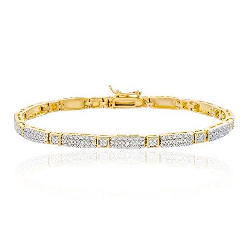 Gold Diamond Tennis Bracelet - 4