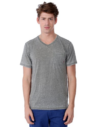 ONE90ONE 'Arson' V-Neck Burnout Tee(Color:Olive Size:X-Large) (Sovereign Tee)