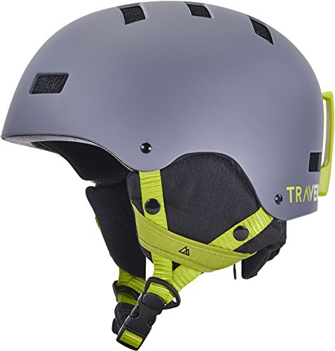 Traverse Sports Dirus Convertible Ski & Snowboard/Bike & Helmet, Matte River Rock, Large (59-63cm)