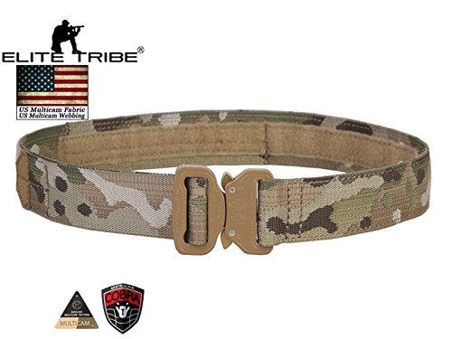 Military Combat 1.5 Inch Cobra Buckle Belt Tactical Rigger...