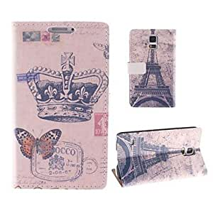 GJY The Crown and The Eiffel Tower Design Full Body PU Leather Case with Card Slot for Samsung Galaxy S5 Mini G800