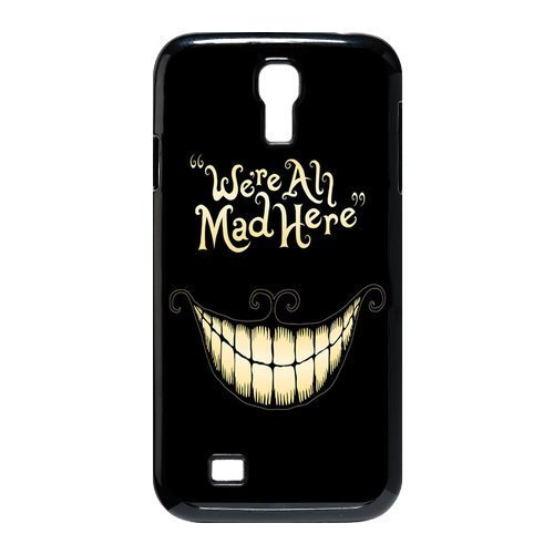 Alice in Wonderland We're all mad here Cheshire Cat Smile Face Unique Durable Hard Plastic Case Cover for SamSung Galaxy S4 I9500 Custom Design Fashion DIY (S4 9500, (Home Costumes Ideas)