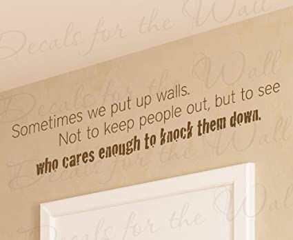 Dating someone with walls up
