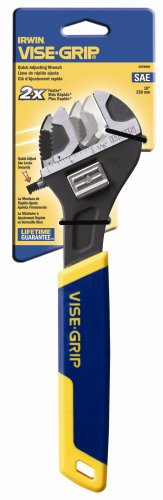 Irwin Industrial Tools 2078605 10-Inch SAE Quick Adjusting (Quick Adjustable Wrench)