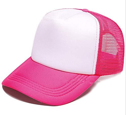 DIY OEM Custom Logo 100% Polyester Men Women Baseball Cap Blank Mesh Baseball Hat Snapback Trucker Hat -