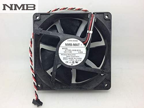 Original For NMB 4712KL-04W-B19 12032 double ball bearing fan 12CM ultra-durable fan
