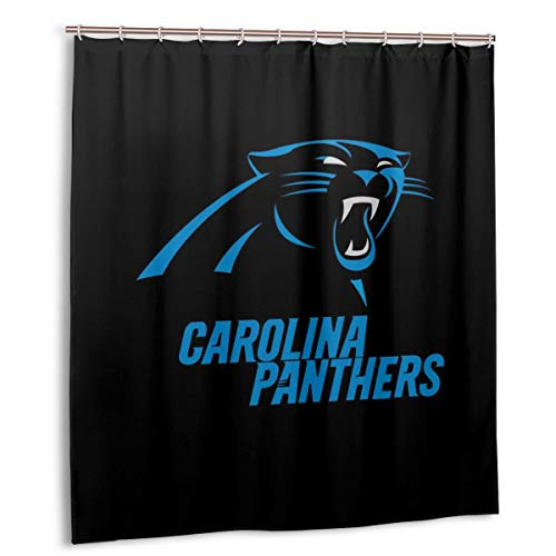 - Sorcerer Custom Colourful Shower Curtain Carolina Panthers American Tootball Team Polyester Waterproof for Bathroom Decoration Set with Hooks 66x72 Inches