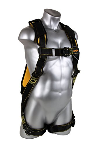 Top Guardian Fall Protection 21045 Cyclone Harness with QC Chest/QC Leg/No Waist Belt/Non Construction, Black/Yellow free shipping