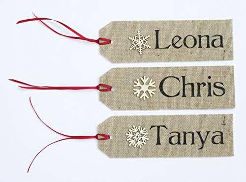 Amazon.com: PERSONALIZED STOCKING NAME TAGS/Rustic