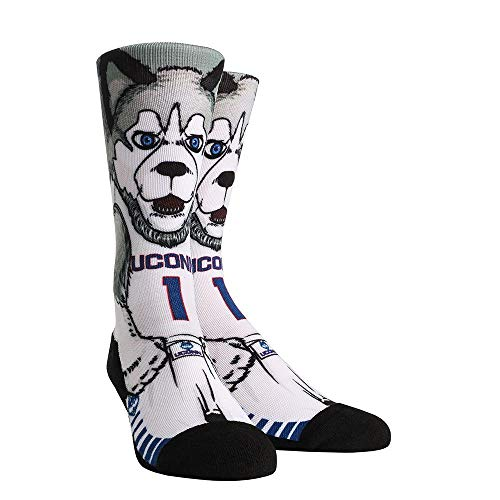 NCAA Super Premium College Fan Socks (L/XL, UConn Huskies - Mascot)