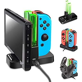 OIVO Controller Charger Compatible with Nintendo Switch,Charging Dock Station Compatible with Switch Joy-con and Pro Controller,Switch Remote Charger ...