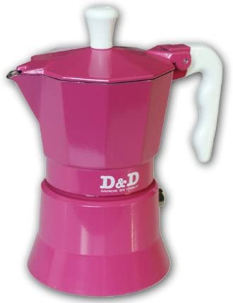 Espresso D & Cafetera 3 Tazas, D, Color Rosa: Amazon.es: Hogar