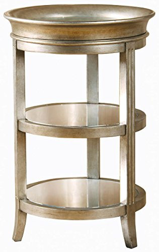 Pulaski Jackson Accent Table, 18 by 18 by 28-Inch, Metallic