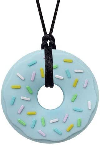 Munchables Donut Chewy Necklace - Sensory Chew Necklace for Boys and Girls (Blue Donut)