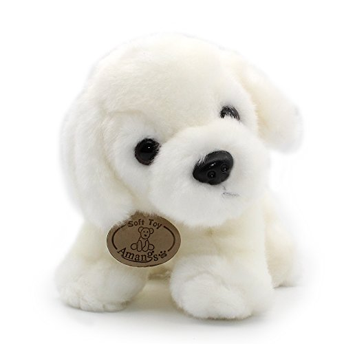 White Labrador Retriever Plush Puppies Stuffed Animals Dogs Plush Toy 8""