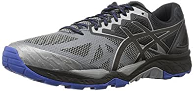 ASICS Men's Gel-Fujitrabuco 6 Running Shoe, Aluminum/Black/Limoges, 10 Medium US