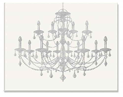 Pierre Belvedere Chandelier Guest Book, White with Foil A...