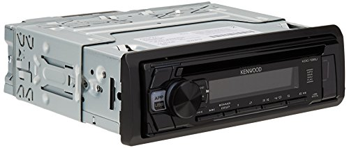 Kenwood KDC-168U In-Dash 1-DIN CD Car Stereo Receiver with Front USB Input (Kenwood Cd Player Remote)