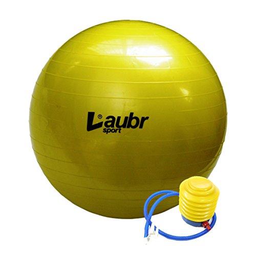 Ballon de gymnastique, ballon de gymnastique 65cm + Pompe à air laubr Sport