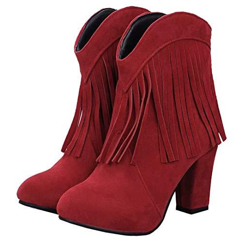 Women's Boot AIYOUMEI Boot Classic AIYOUMEI Women's Red Classic qzWwAZf