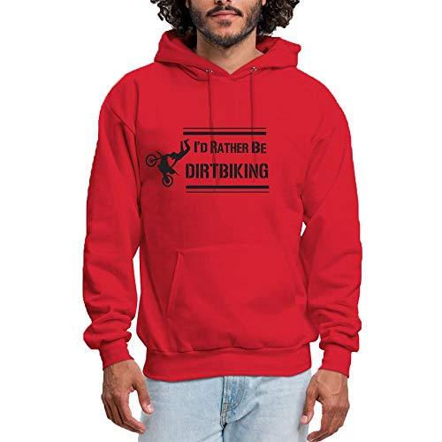 Rosso Dirt Biking Felpa Be Shop Hoodies Graphic Cappuccio Pullover Rather Xijia Con Sweatshirt I'd Women's RHwTU1