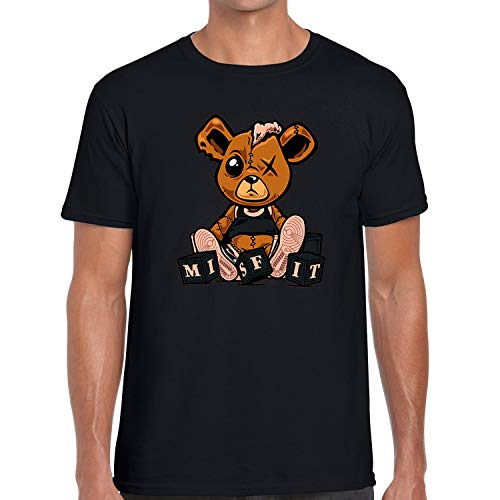 (Style Graphic T Shirt to Matching Air J1 Crimson Tint 1s Misfit Teddy Black Small)