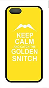 Keep Calm Colden Snitch Cover Case Skin for iPhone 5 5S Soft TPU Black