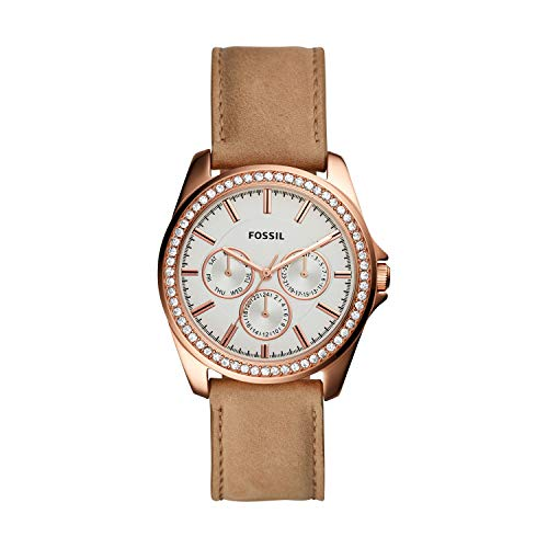 Fossil Women's Janice Multifunction Tan Leather Watch BQ3382 (Fossil Outlet)