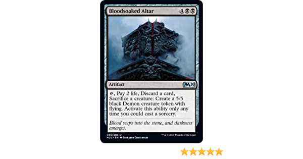 NM Card x 4 Playset Bloodsoaked Altar MTG Core 2020