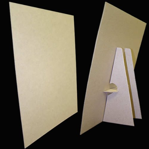 Products Affordable Display (8 1/2 x 11 Kraft Cardboard Easel Display Stand, (Pack of 25))