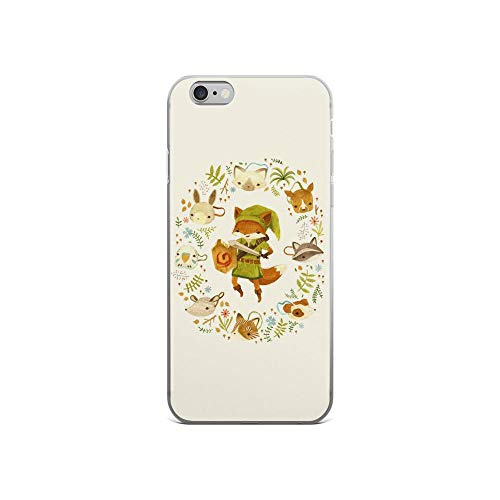 iPhone 6/6s Pure Clear Case Cases Cover The Legend of Zelda Mask Cute Animal Chibi Watercolor Drawing]()