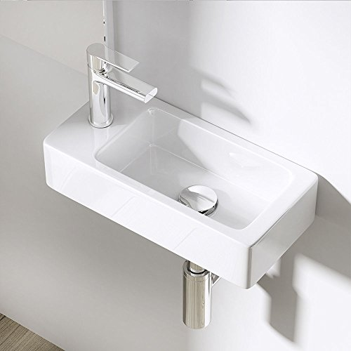 Durovin Bathrooms Compact Ceramic Basin Wall Hung Mount