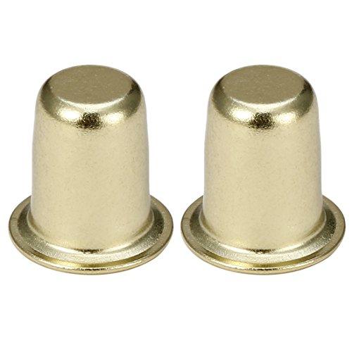 (uxcell 2pcs Brass Cap Knob Lamp Finial Lighting Decorative Accessory 1 inch High )