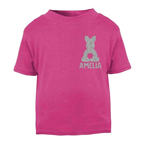 Personalised bunny name glitter easter t shirt tops girls easter personalised bunny name glitter easter t shirt tops girls easter tops boys easter cotton tee negle Choice Image